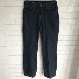 NYDJ Lift Tuck Boot Cut Dark Denim Jeans Sequin 2P